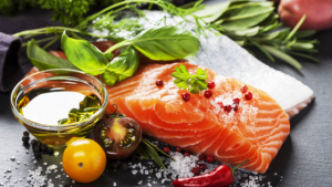 salmon pimienta aceite aji