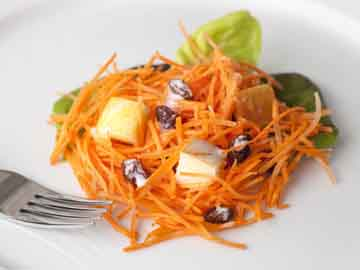 Ensalada de zanahoria y manzanas