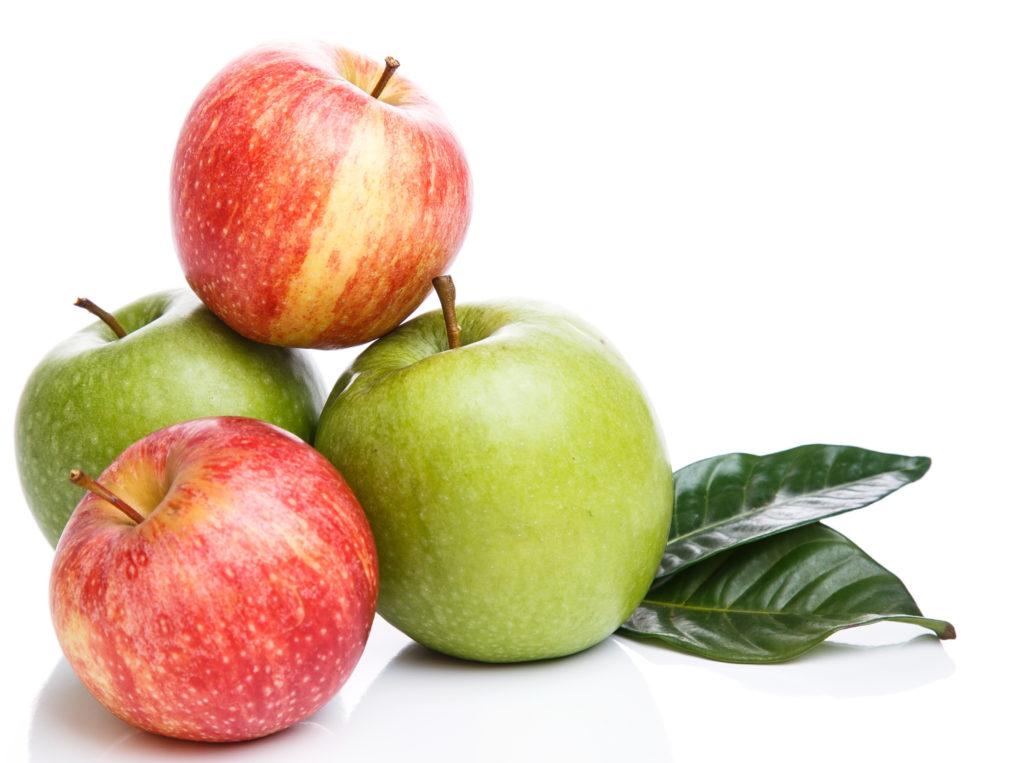 foto de manzanas verdes y rojas